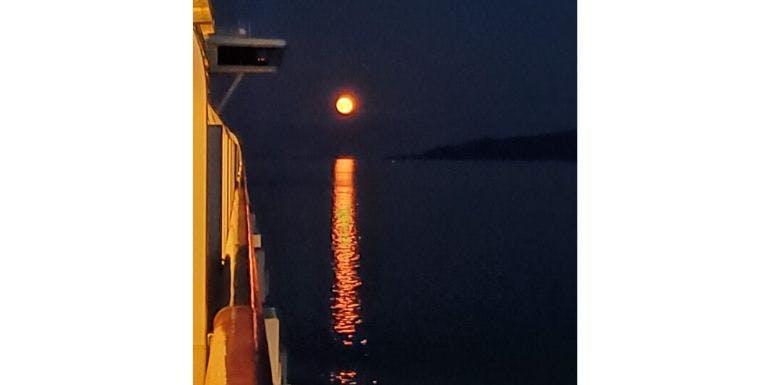 moon moonlight reflection whittier alaska