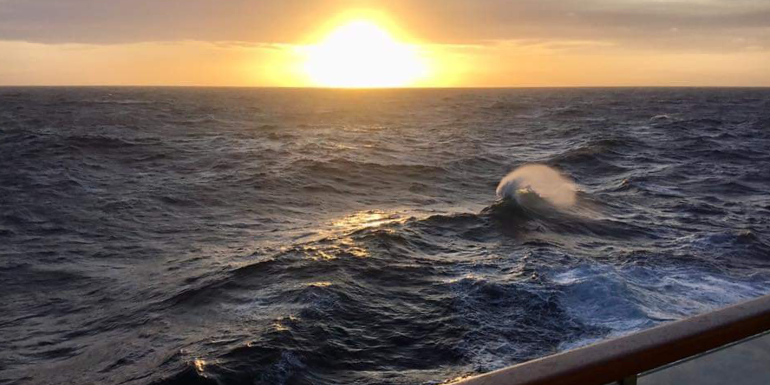 radiance of the seas sunset ocean