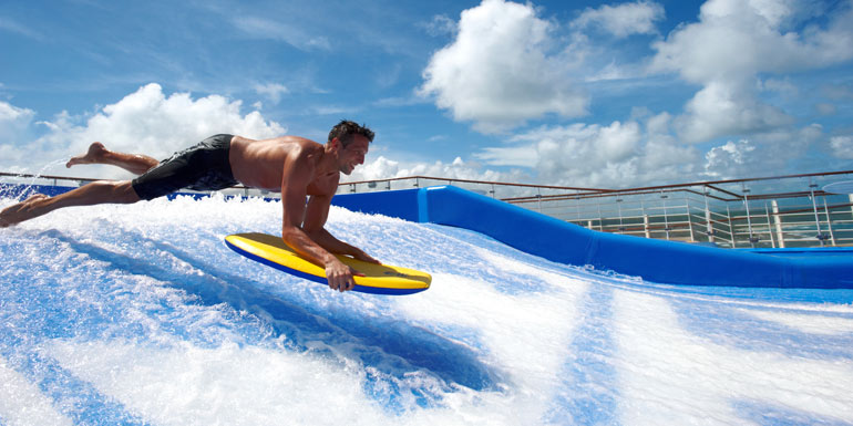 crowded cruise ships flow rider