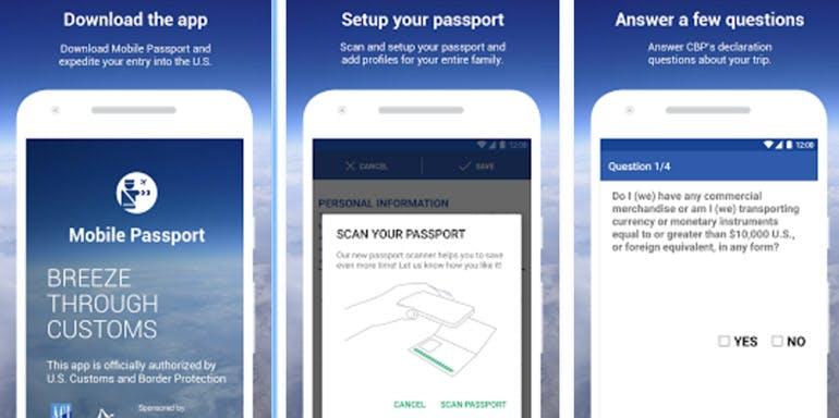 mobile passport app cruise travel