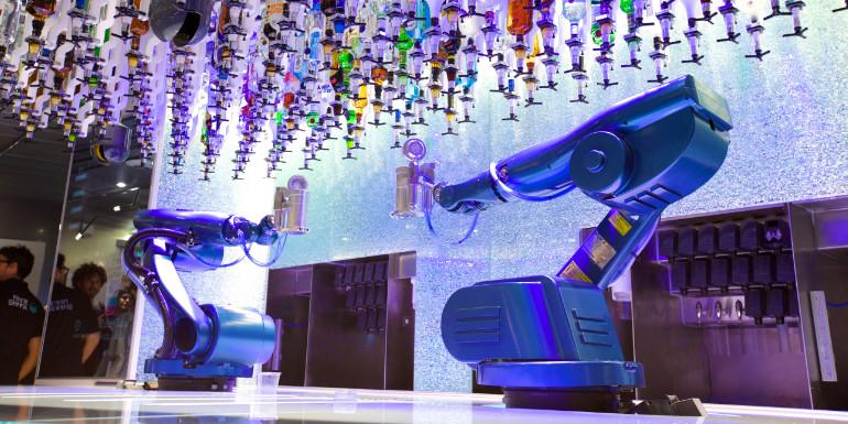royal caribbean bionic bar robots cruise