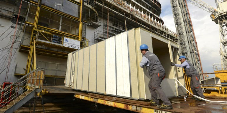 carnival vista cabin block cruise construction