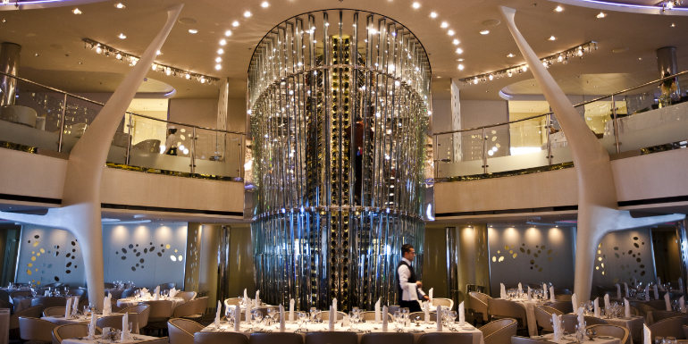 celebrity solstice wine tower cruise construction