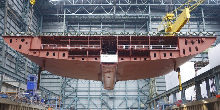 ovation hull royal caribbean cruise construction