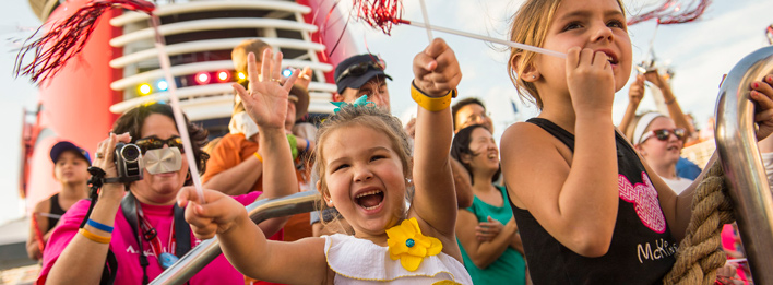 In order to maintain a family-friendly atmosphere, Disney ships do not have the following onboard: