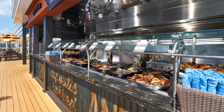 guy's barbecue carnival cruise lunch food dining