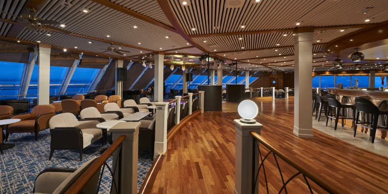 norwegian sun spinnaker observation lounge refurbishment