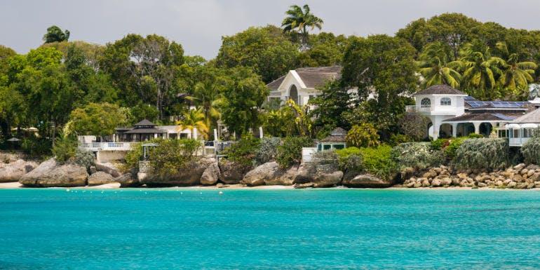 bridgetown barbados houses beach caribbean island