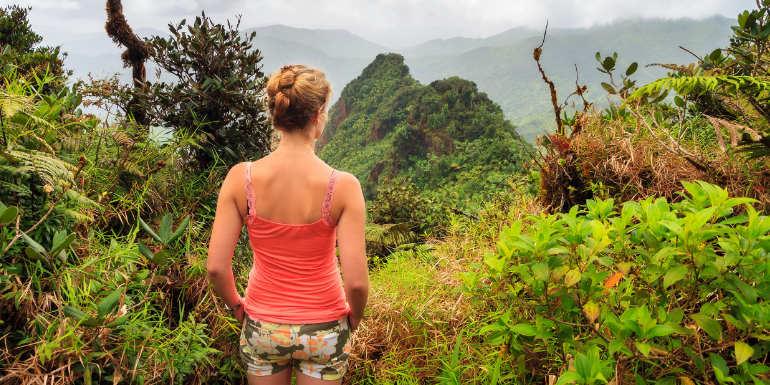 el yunque rainforest hiking puerto rico