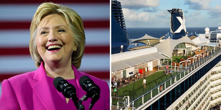 hillary clinton celebrity cruises