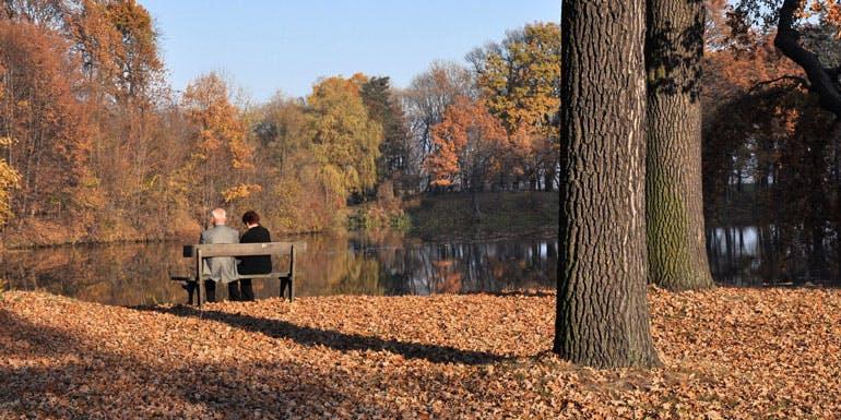 age fall cruises older couple park