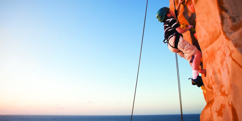 norwegian rock climbing free cruise activity