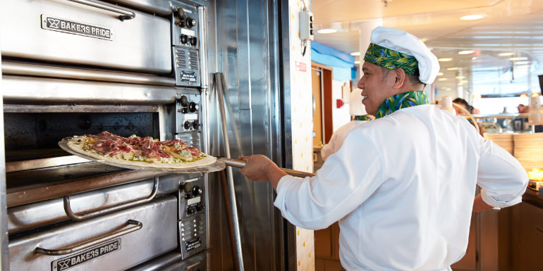 princess pizza dining free cruise food
