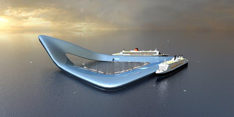 boomerang concept for cruise ship