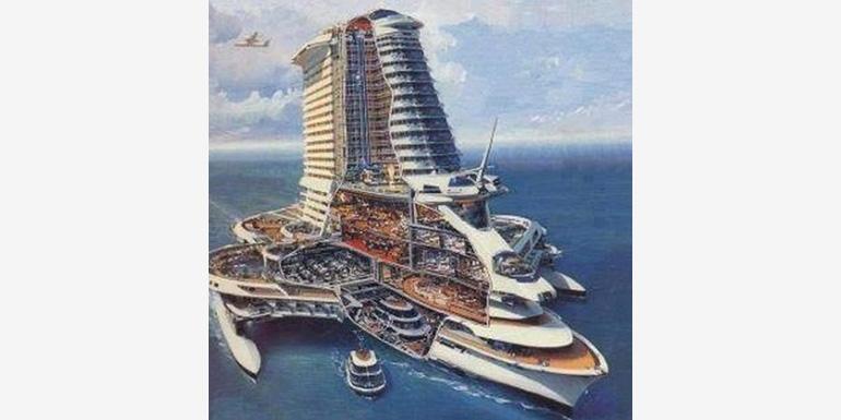 skyscraper cruise ship