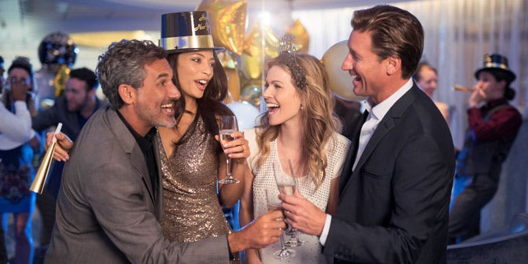 new years celebrity party
