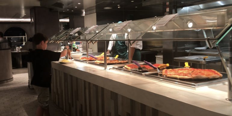 msc seaside pizza buffet food pasta
