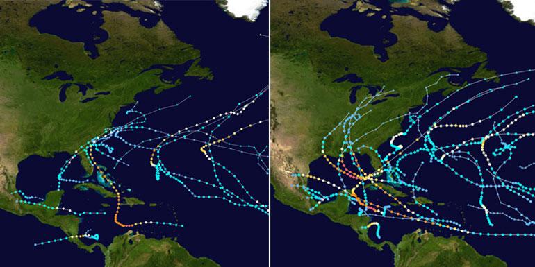 hurricane season caribbean path islands