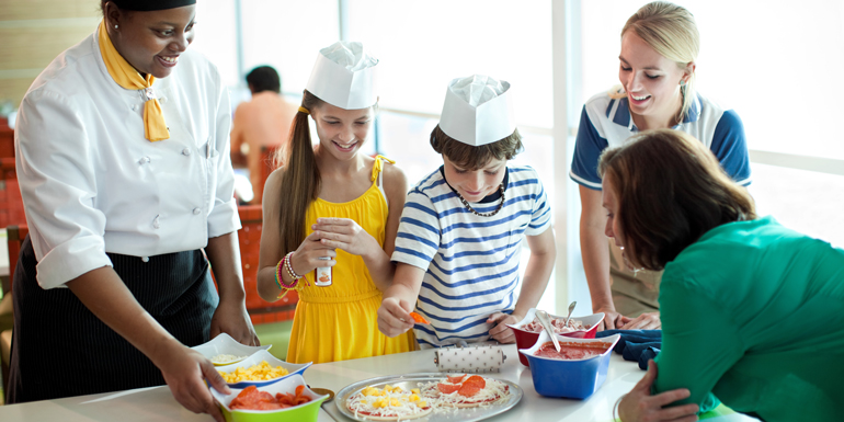 celebrity cruise ship kids clubs cooking