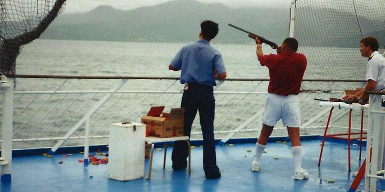 skeet shooting cruise ship