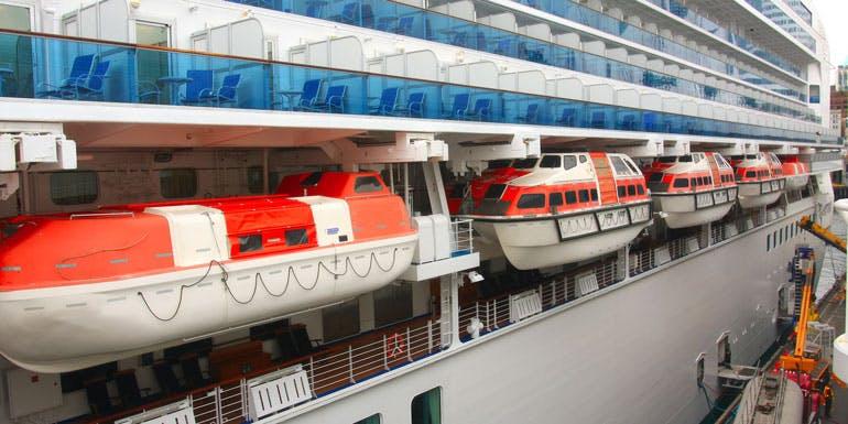 life boats cruise ship