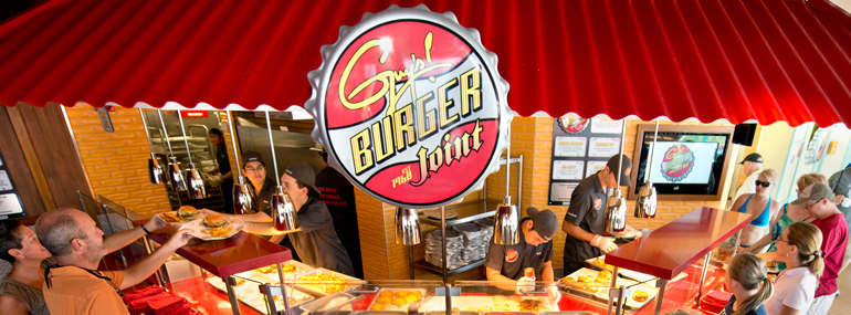 Guy Fieri's burger restaurant found a home on this line in 2011.