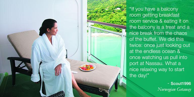 ncl cruise tips hacks balcony breakfast