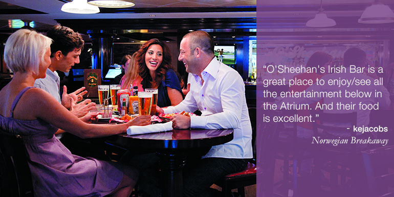 norwegian cruise tips hacks osheehans bar