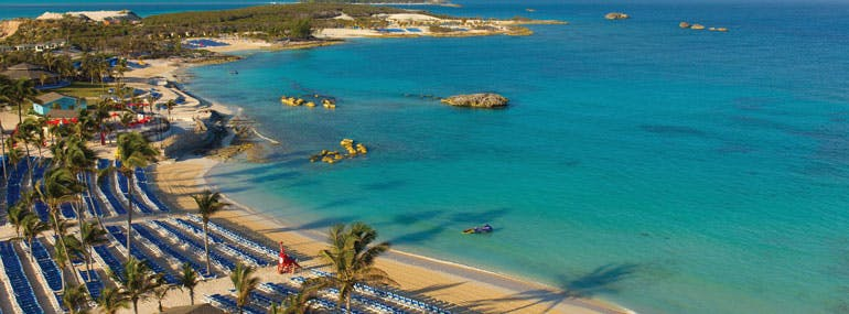 Great Stirrup Cay, Norwegian's private island, did not have this until 2012.