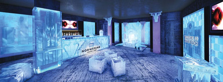 """This popular brand of vodka hosts this extremely """"cool"""" bar on Norwegian ships:"""