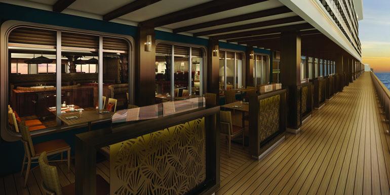 bayamo outdoor dining cruise norwegian escape