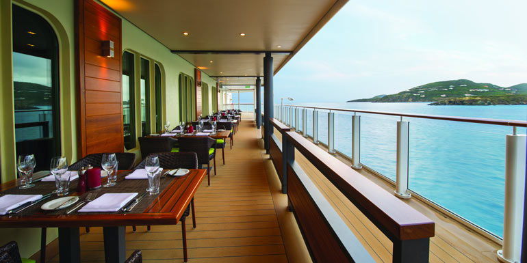 outdoor dining cagneys cruise restaurant