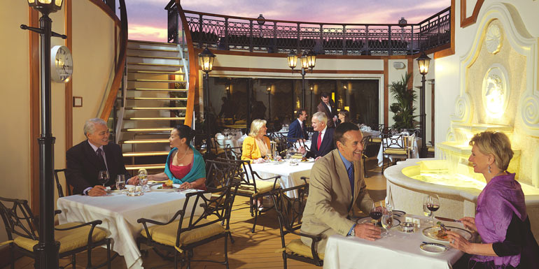 princess grill cunard outdoor dining cruise