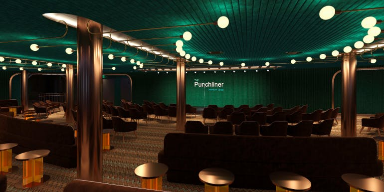 punchliner comedy club carnival cruise mardi gras rendering