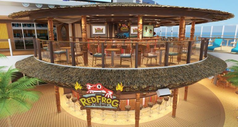 redfrog tiki bar carnival cruise mardi gras rendering