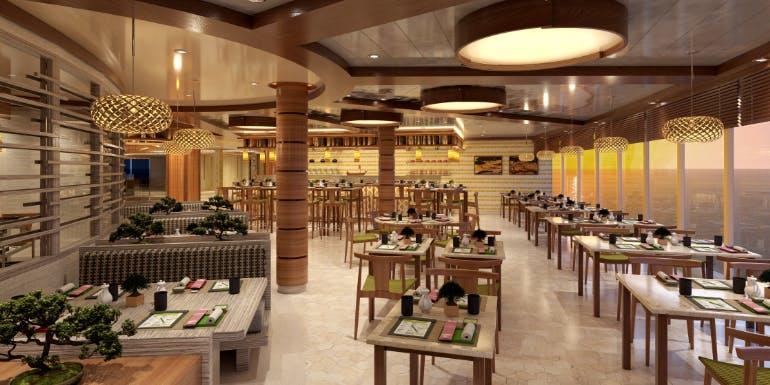 bonsai sushi restaurant carnival cruise mardi gras rendering