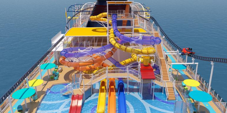 waterworks aqua park carnival cruise mardi gras rendering