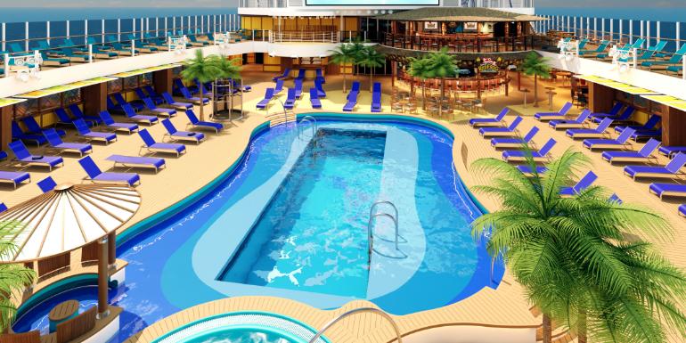 beach pool carnival cruise line mardi gras rendering