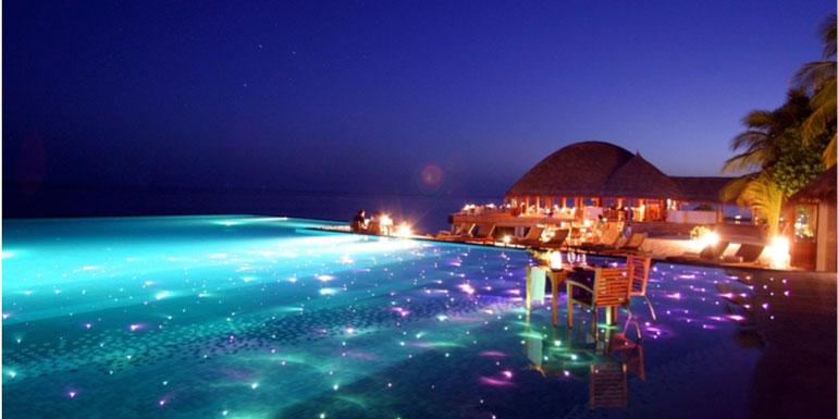 glowing pool cruise ship