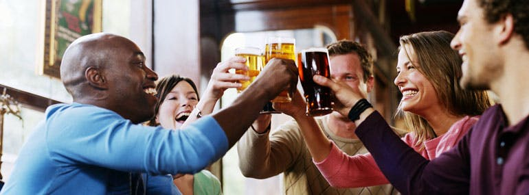 Where is your go-to spot at a crowded bar?