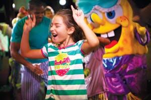little girl dancing in pajamas