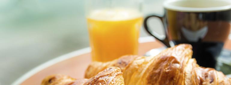 My morning breakfast routine onboard is: