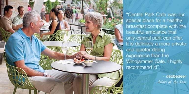 central park cafe royal oasis allure