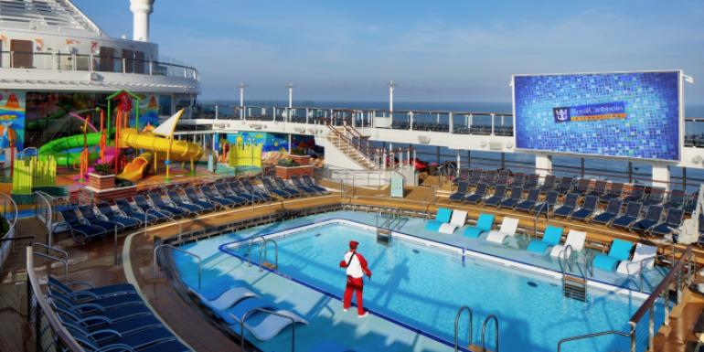 repositioning cruise royal caribbean pool deck