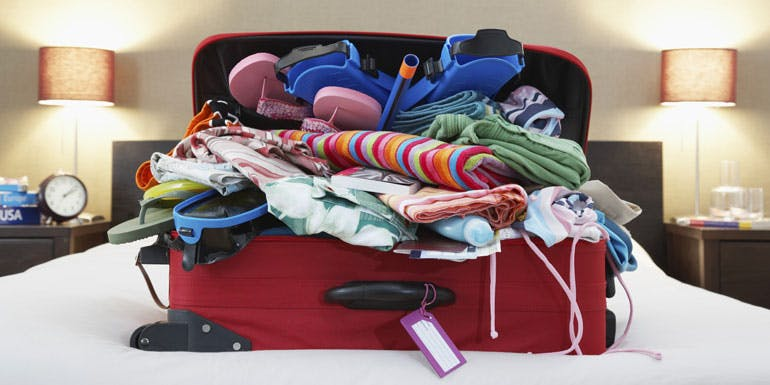 cruise packing overstuffed suitcase rookie mistake