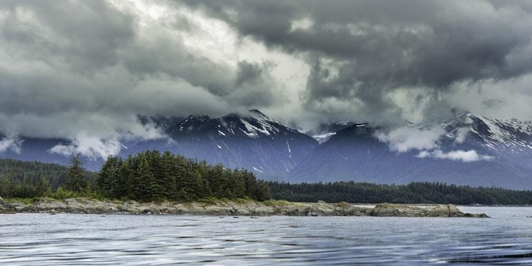 alaska clouds rain cruise