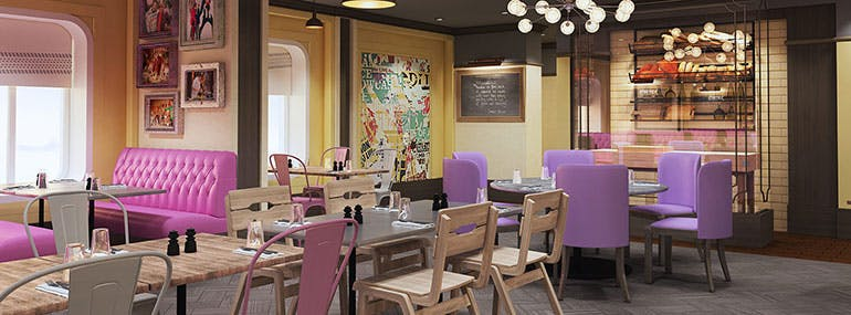 Which celebrity chef opened a new Italian restaurant onboard Anthem and Quantum?