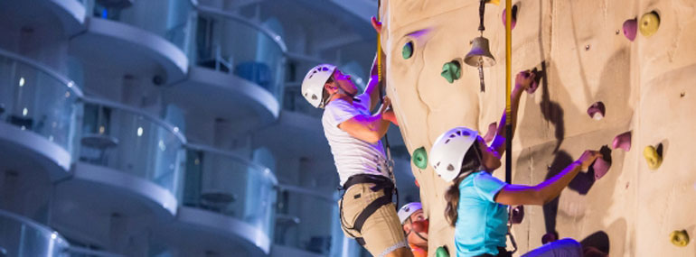 The first Royal Caribbean ship class to have a rock-climbing wall was the...