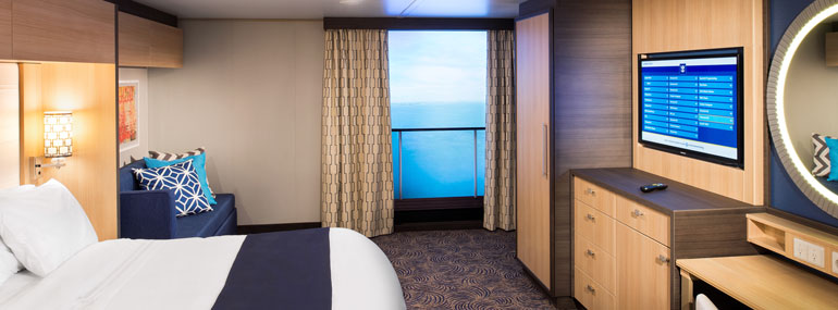 Royal Caribbean uses which of the following to make inside cabins seem bigger and brighter: