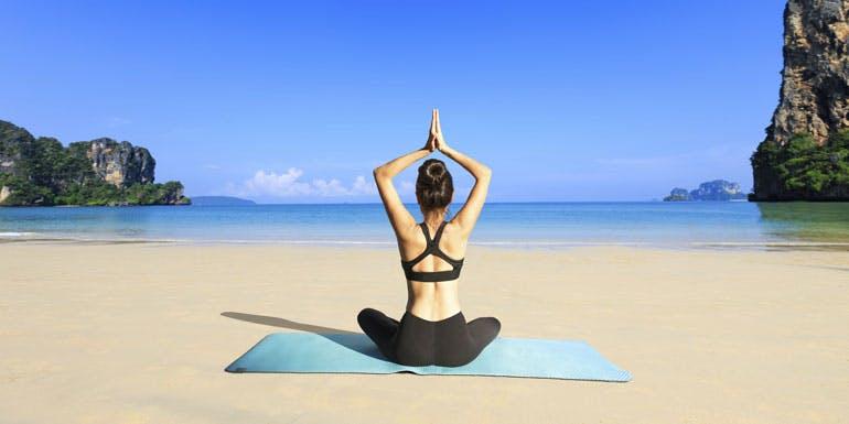 yoga beach save money cruise
